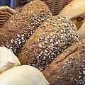 Multi Grain Bagels Closeup by Jit Lim