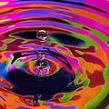 Multicolor Water Droplets 2 by Imani  Morales