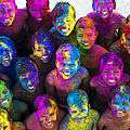 Multicoloured Happy Faces by Tim Gainey