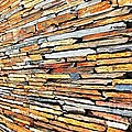 Multicoloured Slate Wall by Herman Cloete