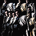 Multiple Johnny Cash's In Trench Coat 1 Collage Old Tucson Arizona 1971-2008 by David Lee Guss
