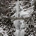 Multnoma Falls In Winter by Eric Mace