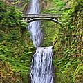 Multnomah Falls I by Dan Sabin