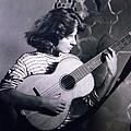 Mum Chris With Her Guitar Gitana by Colette V Hera  Guggenheim