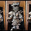 Mummer Man Triptych by Alice Gipson