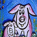 Mummy And Baby Pig  by Mary Cahalan Lee- aka PIXI