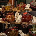 Munich Market With Pickles And Olives by Carol Groenen
