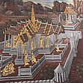 Mural - Grand Palace In Bangkok Thailand - 01135 by DC Photographer