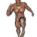 Muscular Man Running by Elena Duvernay