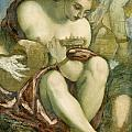 Muse With Lute by Tintoretto