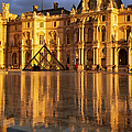 Musee Du Louvre Sunset by Brian Jannsen