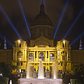 Museu Nacional D'art De Catalunya Light Show by Nathan Rupert