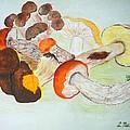 Mushrooms Time by Loreta Mickiene