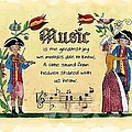 Music Fraktur by Joan Shaver