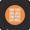 Music Quotes Typography Print Poster by Lab No 4 - The Quotography Department
