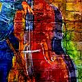 Musician Bass And Brick by Anita Burgermeister