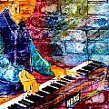 Musician Keyboard And Brick by Anita Burgermeister