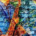 Musician Sax And Brick by Anita Burgermeister