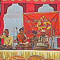 Musicians At Hindu Festival Of Ram Nawami In Kathmandu-nepal by Ruth Hager