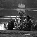 Musicians By The Pond by Aidan Moran