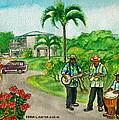 Musicians On Island Of Grenada by Frank Hunter