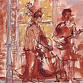 Musicians On Royal Street New Orleans by Edward Ching