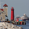 Muskegon Coast Guard And Light House by Bruce McEntyre