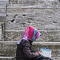 Muslim Woman At Mosque by Antony McAulay