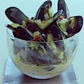 Mussels In Broth by Romulo Yanes