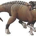 Muttaburrasaurus Dinosaur by H. Kyoht Luterman
