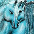 Mutual Companions- Fine Art Horse Artwork by Lourry Legarde