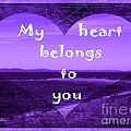 My Heart Belongs To You by Barbara Griffin