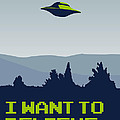My I Want To Believe Minimal Poster by Chungkong Art