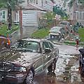My Lincoln In The Rain by Ylli Haruni