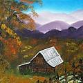 My Neighbors Barn Big Sandy Mush Nc by Margaret G Calenda