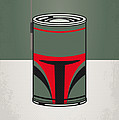 MY STAR WARHOLS BOBA FETT MINIMAL CAN POSTER by Chungkong Art