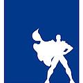 My Superhero 03 Super Blue Minimal Poster by Chungkong Art