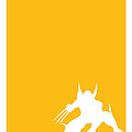 My Superhero 05 Wolf Yellow Minimal Poster by Chungkong Art
