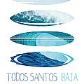 My Surfspots poster-6-Todos-Santos-Baja by Chungkong Art