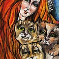 My Three Cats by Angel Ciesniarska