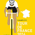 My Tour De France Minimal Poster 2014 by Chungkong Art
