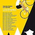 My Tour De France Minimal Poster 2014-etapes by Chungkong Art