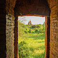 Myanmar Bagan View Of Some Pagodas by Inger Hogstrom
