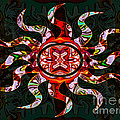 Mysterious Circumstances Abstract Sun Symbol Artwork by Omaste Witkowski