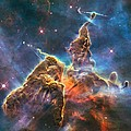 Mystic Mountain Part Of Carina Nebula by L Brown