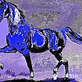 Mysterious Stallion Abstract by Saundra Myles