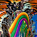 Mystic Stripers Tiger Emblem Abstract by Marian Bell