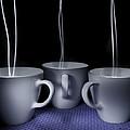 Mystic Tea Cups - Light Painting by Steven Milner
