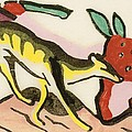 Mythical Animal  by Franz Marc
