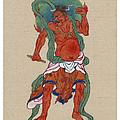Mythological Buddhist Or Hindu Figure Circa 1878 by Aged Pixel